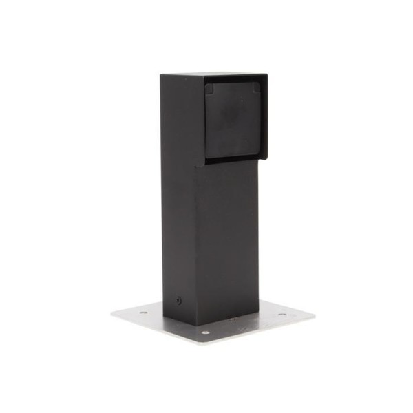PSM Lighting Nike bollard with 1 powerpoint PS T351.32X Textured black